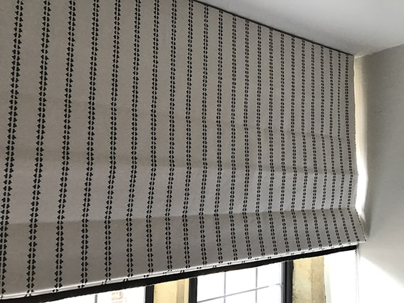 Ticking Stripe Charcoal from Vanessa Arbuthnott